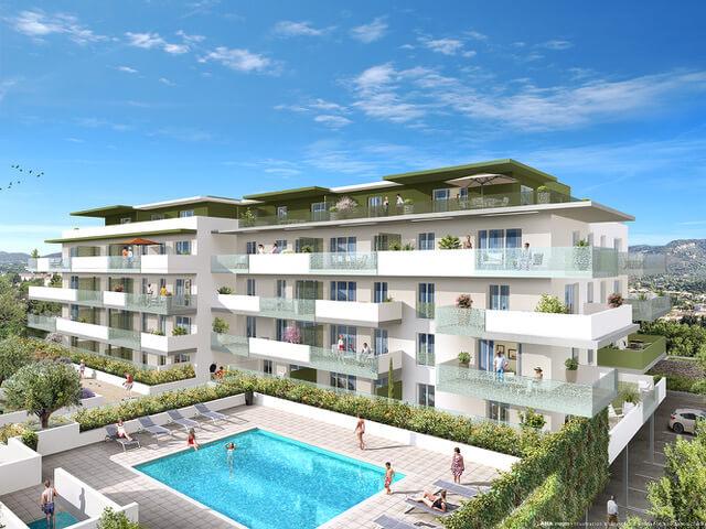 Résidence immobilière neuve au Lavandou - Le Carré d'or