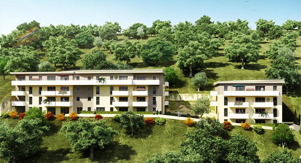 Résidence immobilière neuve à Saint-Laurent-du-Var - Le Mont d'Azur