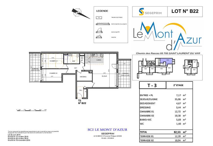 Le Mont d'Azur – B22