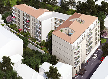 Vue haut résidence Le Titan à Toulon 83