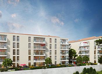 Vue face résidence Le Titan à Toulon 83