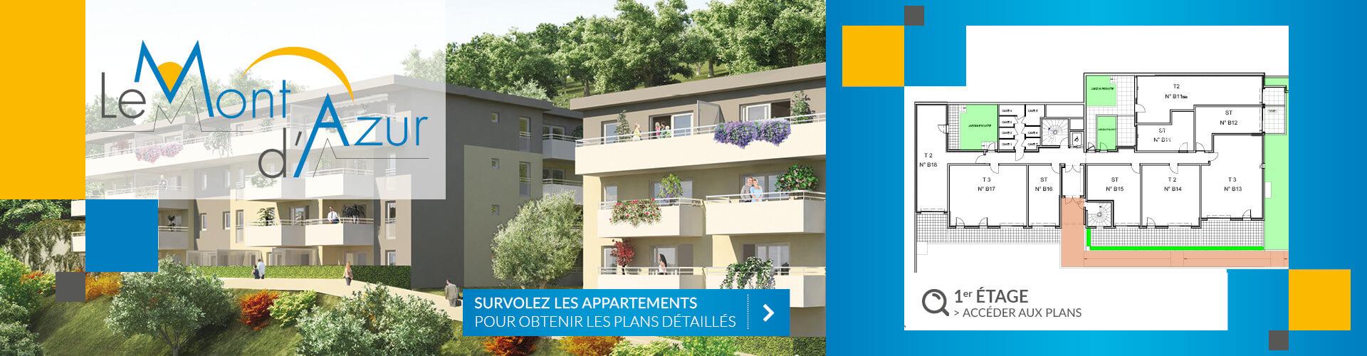 Résidence Mont d'Azur 1er étage Segeprim
