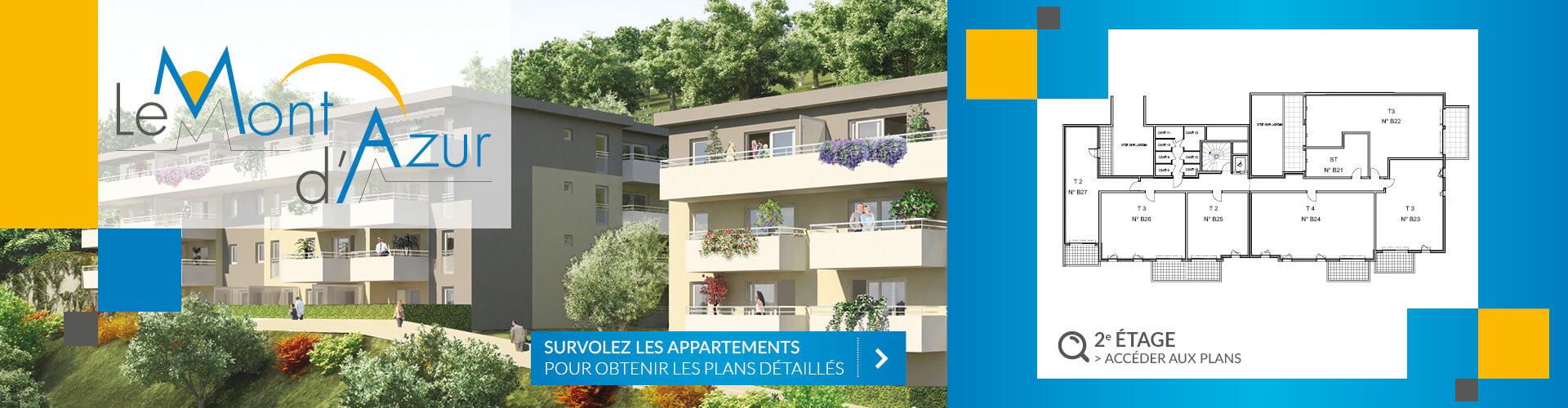 Résidence Mont d'Azur 2e étage Segeprim