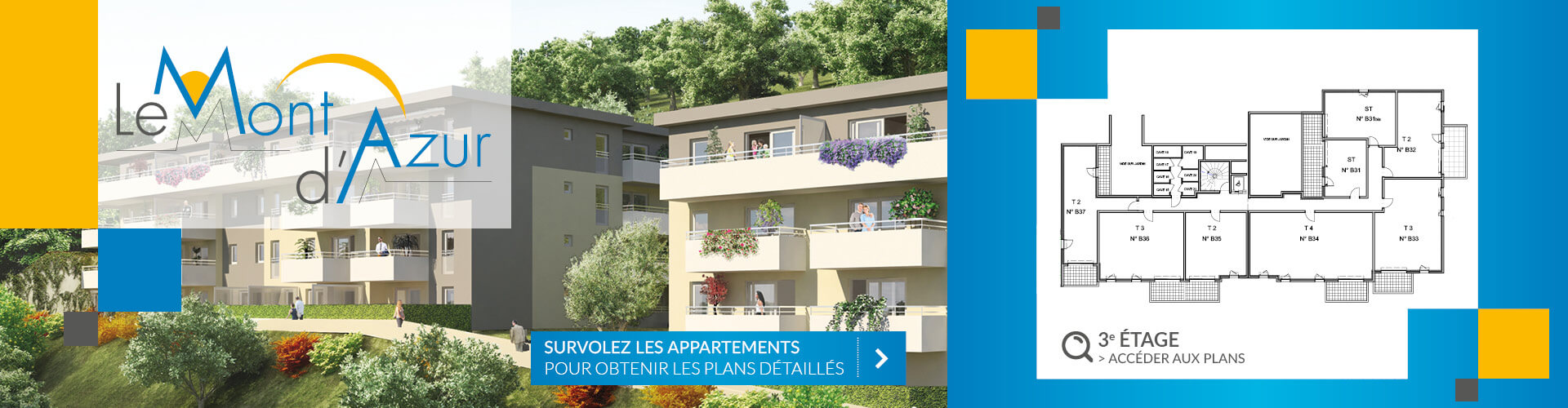 Résidence Mont d'Azur 3e étage Segeprim
