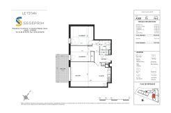Appartement A208 Résidence Le Titan à Toulon