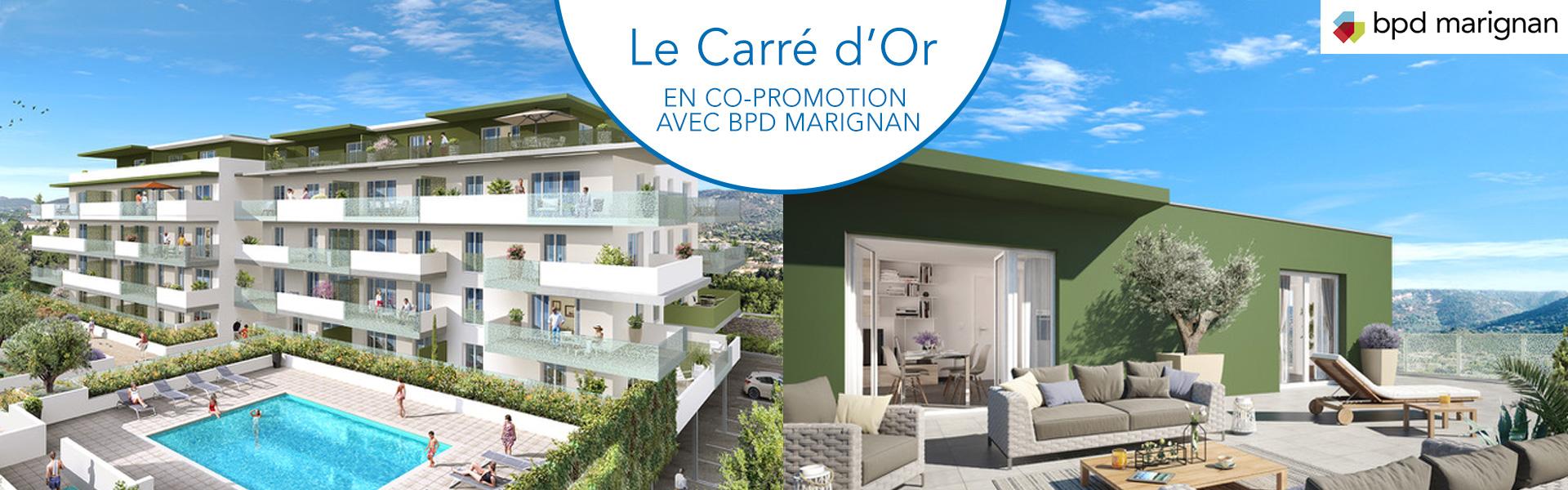 Résidence immobilière Le Carré d'or - le Lavandou - Var - 83