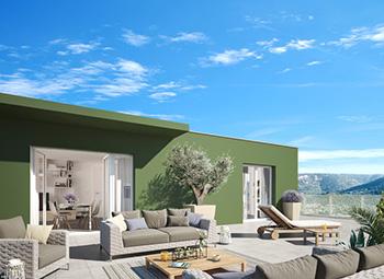 Terrasse résidence Le Carré d'or - le Lavandou - 83