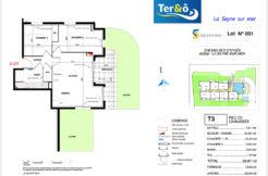 Plan appartement 001 - Résidence immobilier Ter&O à La Seyne-sur-Mer