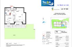 Plan appartement 002 - Résidence immobilier Ter&O à La Seyne-sur-Mer