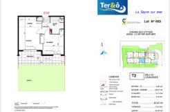 Plan appartement 003 - Résidence immobilier Ter&O à La Seyne-sur-Mer