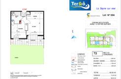 Plan appartement 004 - Résidence immobilier Ter&O à La Seyne-sur-Mer