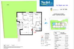 Plan appartement 006 - Résidence immobilier Ter&O à La Seyne-sur-Mer