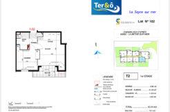 Plan appartement 102 - Résidence immobilier Ter&O à La Seyne-sur-Mer