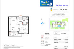 Plan appartement 103 - Résidence immobilier Ter&O à La Seyne-sur-Mer
