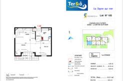 Plan appartement 105 bas - Résidence immobilier Ter&O à La Seyne-sur-Mer