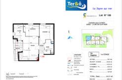 Plan appartement 106 bas - Résidence immobilier Ter&O à La Seyne-sur-Mer