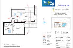 Plan appartement 201 - Résidence immobilier Ter&O à La Seyne-sur-Mer