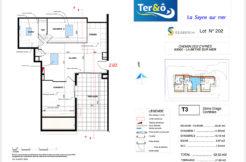 Plan appartement 202 - Résidence immobilier Ter&O à La Seyne-sur-Mer