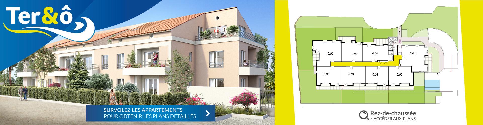 Rez-de-chaussez - Résidence immobilière Ter&O - La Garde - Var - 83