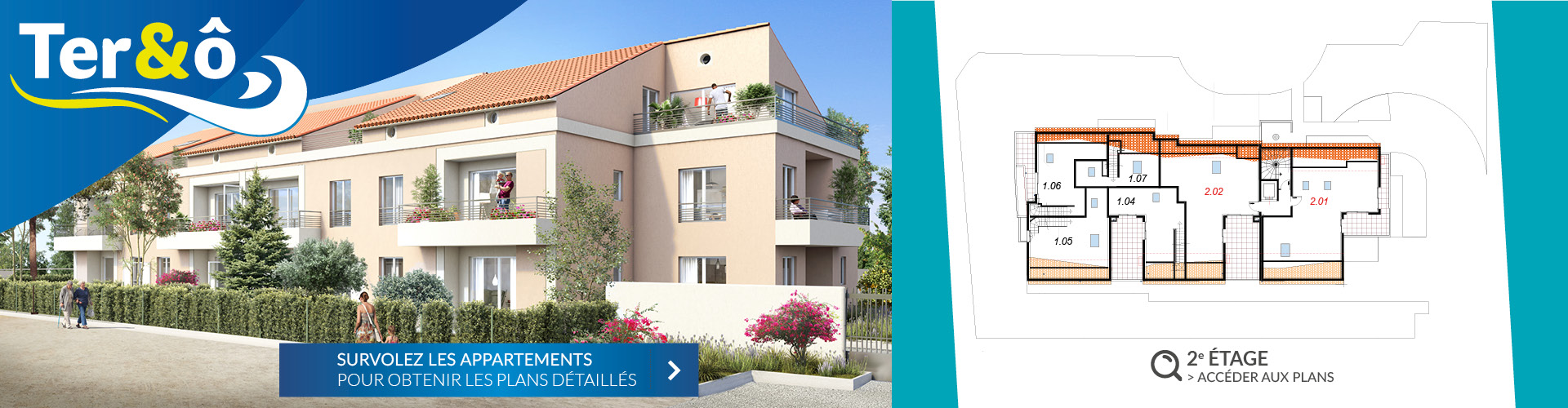 2e étage - Résidence immobilière Ter&O - La Garde - Var - 83