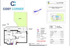 Plan appartement 001 - Résidence immobilière Cosy Corner à Toulon