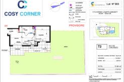 Plan appartement 003 - Résidence immobilière Cosy Corner à Toulon