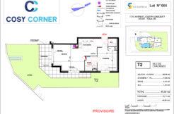 Plan appartement 004 - Résidence immobilière Cosy Corner à Toulon