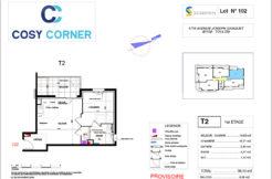 Plan appartement 102 - Résidence immobilière Cosy Corner à Toulon