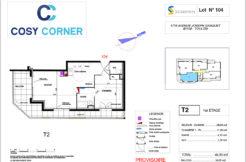Plan appartement 104 - Résidence immobilière Cosy Corner à Toulon