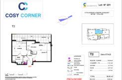 Plan appartement 201 - Résidence immobilière Cosy Corner à Toulon