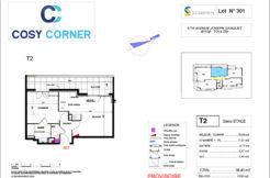 Plan appartement 301 - Résidence immobilière Cosy Corner à Toulon