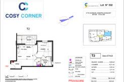 Plan appartement 302 - Résidence immobilière Cosy Corner à Toulon