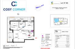 Plan appartement 305 - Résidence immobilière Cosy Corner à Toulon