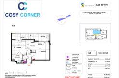 Plan appartement 401 - Résidence immobilière Cosy Corner à Toulon