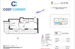 Plan appartement 404 - Résidence immobilière Cosy Corner à Toulon