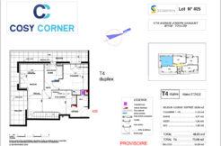 Plan appartement 405 - Résidence immobilière Cosy Corner à Toulon