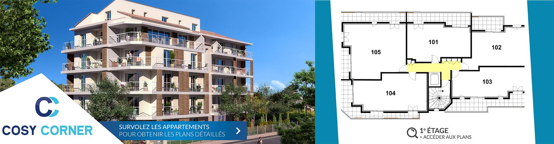 Résidence Cosy Corner à Toulon 83 - Logements neufs 1er etage
