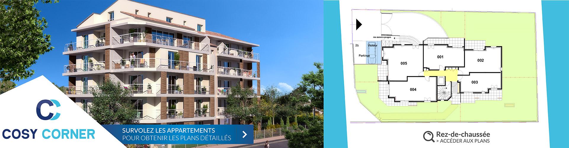 Résidence Cosy Corner à Toulon 83 - Logements neufs RDC
