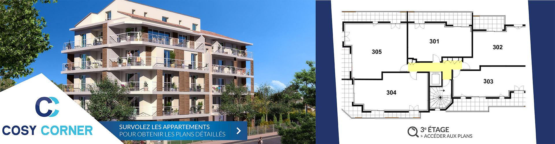 Résidence Cosy Corner à Toulon 83 - Logements neufs 3e etage